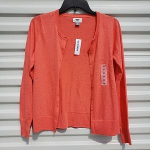 NWT Old Navy coral cardigan